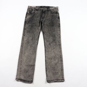 Vtg Fox Mens 36x30 Acid Wash Bootcut Jeans Black
